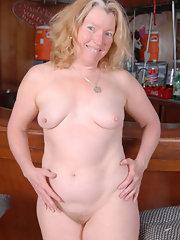 Naked girl lying down